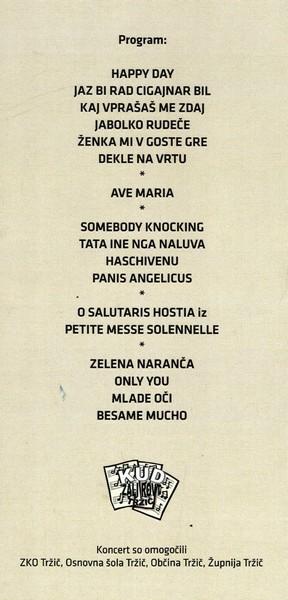 KUD Zali rovt, 2011, 15. jubilejni koncert vokalno instrumentalne skupine Zali rovt Tržič, vabilo 3d