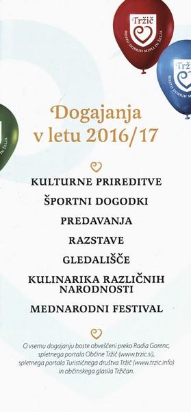 Osnovna šola Tržič, 2016, Mesto dobrih misli in želja, Dogajanja v letu 2016 2017, zloženka 3c