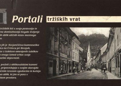 POŠ Kovor, 2008, Portali tržiških vrat, razglednica 3a