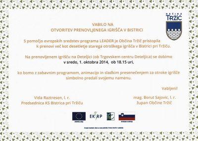 Vrtec Tržič, enota Deteljica, 2014, 40. rojstni dan enote Deteljica Vrtca Tržič, vabilo 3a