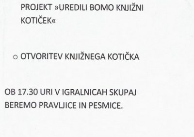 Vrtec Tržič, enota Palček, 2011, Beriva skupaj, vabilo na prireditev 3c